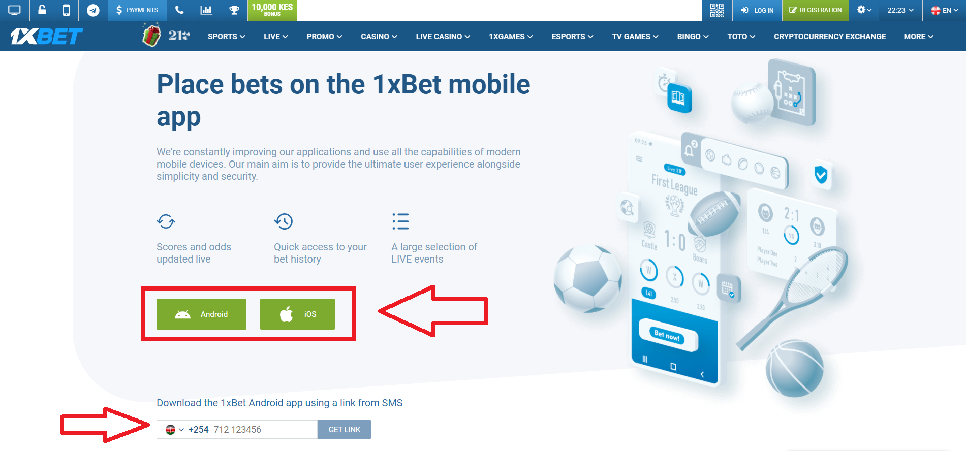 1xbet apk for your Phone